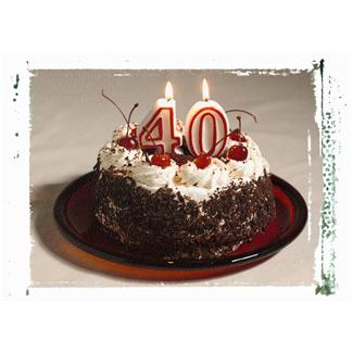 40th Birthday Cake Design and Other Great 40th Birthday Ideas
