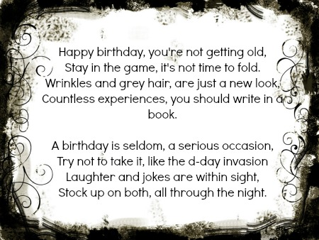 find a funny 50th birthday poem