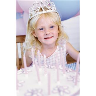 5 year old girl at a princess party - cute