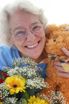 80th birthday celebration with a cute teddy bear