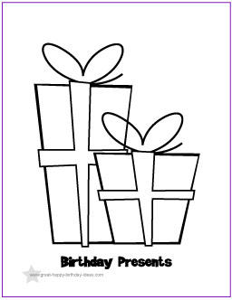 printable birthday coloring pages, happy birthday coloring pages, birthday ideas,