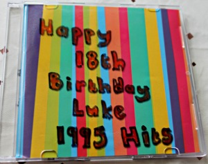decorated cd mix for birthday