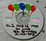 decorating a cd mix for easy homemade gift