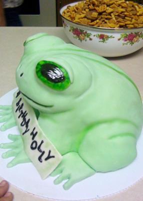 Frog birthday cake decorating ideas