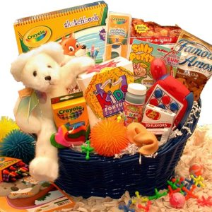 kid birthday gift basket