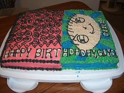 Half n half birthday cake tradition