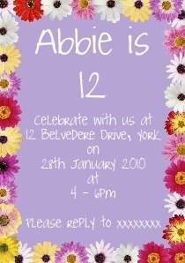 Make 12th birthday party invitations birthday invitation ideas making 12th birthday party invitations on your computer is a much cheaper way of inviting your guests and offers a similar level of creativity as hand made filmwisefo Image collections