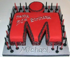 I Love This Simple Design For A Man Plain White Fondant Icing With Personal Message Or Name