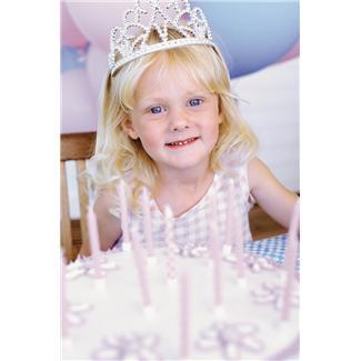 5 year old girl at a princess party - cute