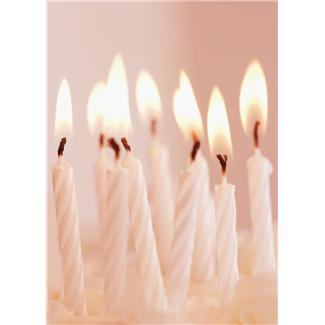 candles for an 80th party