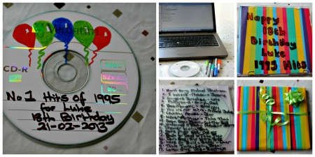 how to make a cd mix for a birthday
