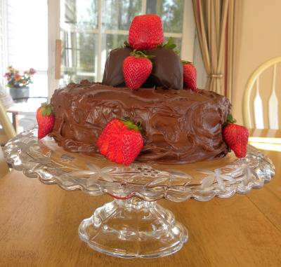 Chocolate with Chocolate Covered Strawberries & More Birthday Cake Decorating Ideas