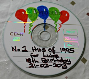 decorating a birthday cd mix