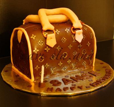 LV inspired cake.