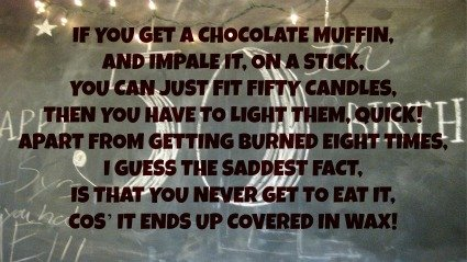 If you get a chocolate muffin funny 50th birthday poen